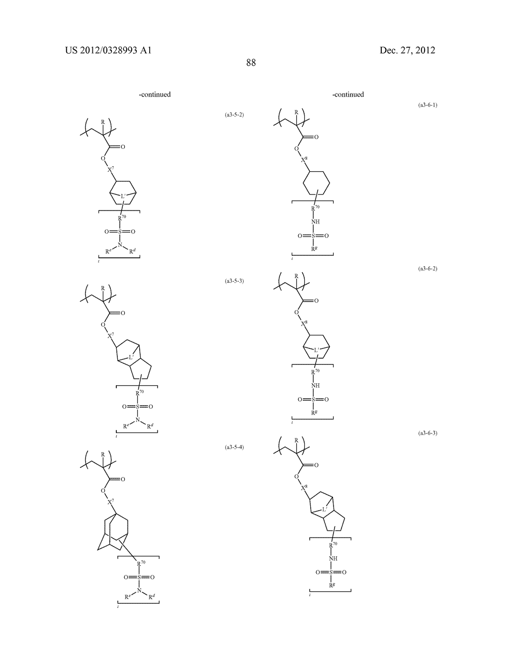 METHOD OF PRODUCING POLYMERIC COMPOUND, RESIST COMPOSITION, AND METHOD OF     FORMING RESIST PATTERN - diagram, schematic, and image 89