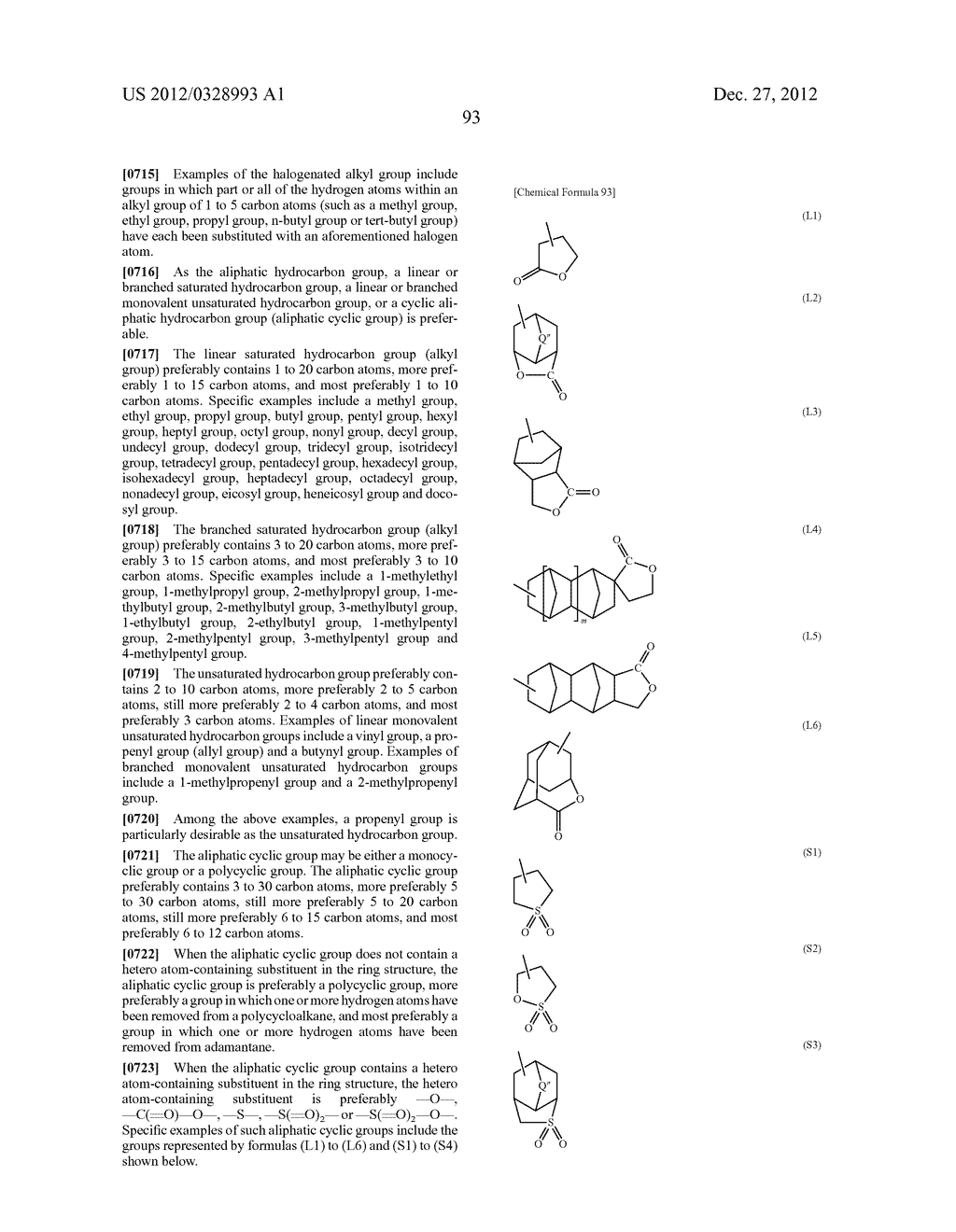METHOD OF PRODUCING POLYMERIC COMPOUND, RESIST COMPOSITION, AND METHOD OF     FORMING RESIST PATTERN - diagram, schematic, and image 94