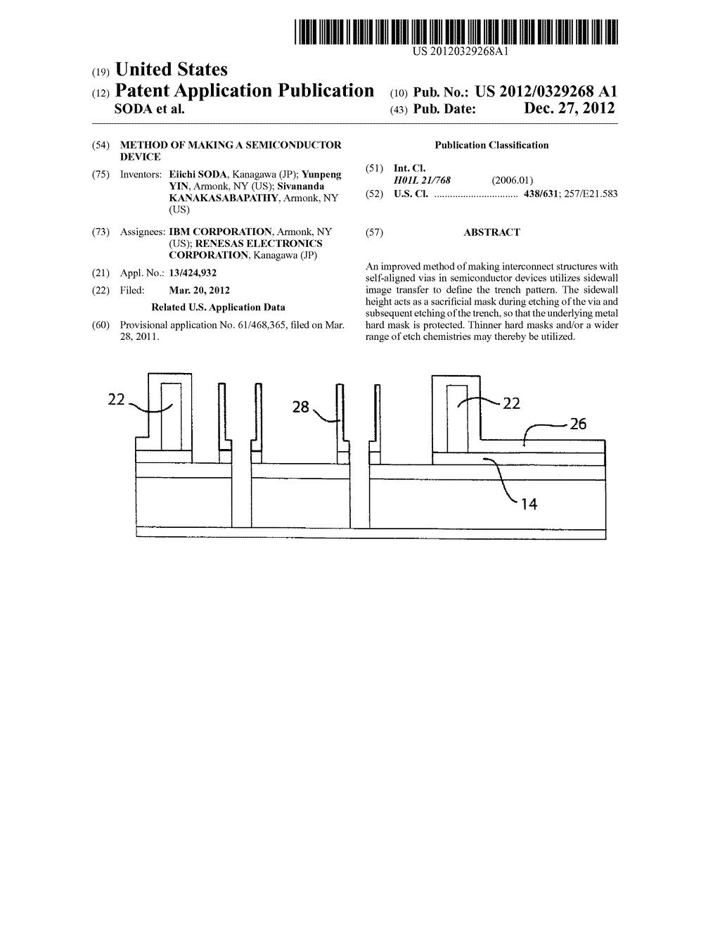 METHOD OF MAKING A SEMICONDUCTOR DEVICE - diagram, schematic, and image 01