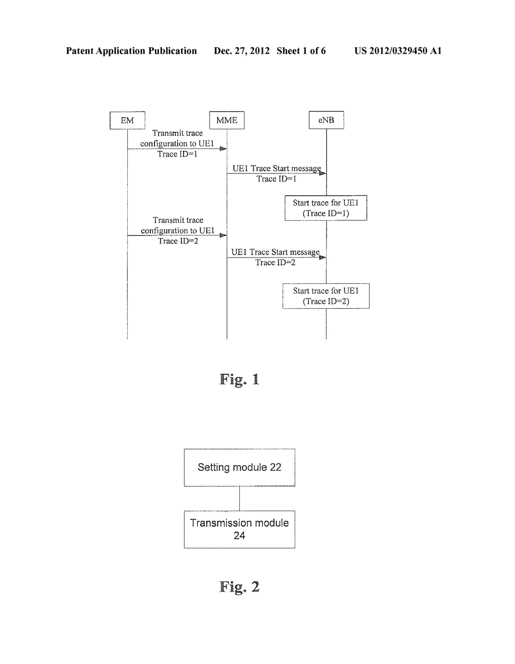 Method and Apparatus for Transmitting Signaling Trace Command - diagram, schematic, and image 02