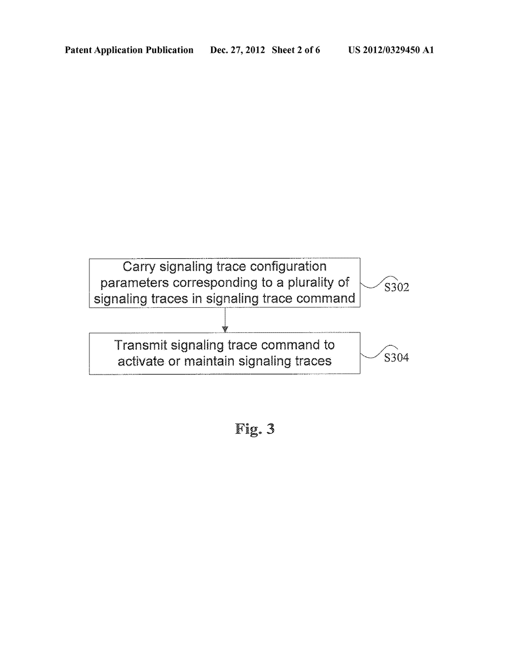 Method and Apparatus for Transmitting Signaling Trace Command - diagram, schematic, and image 03