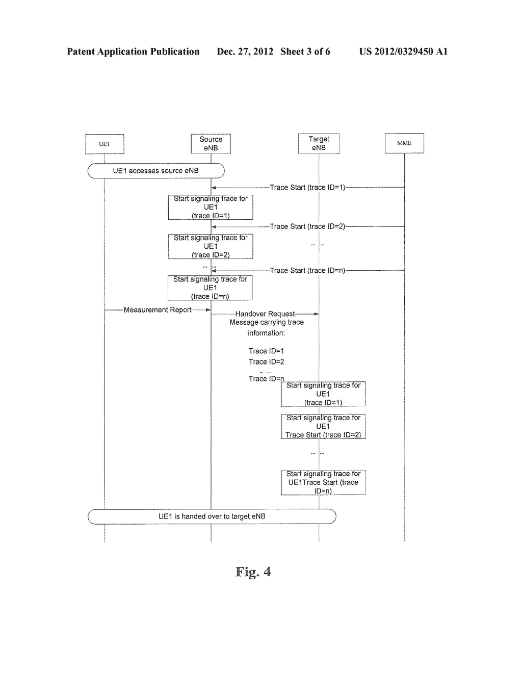 Method and Apparatus for Transmitting Signaling Trace Command - diagram, schematic, and image 04