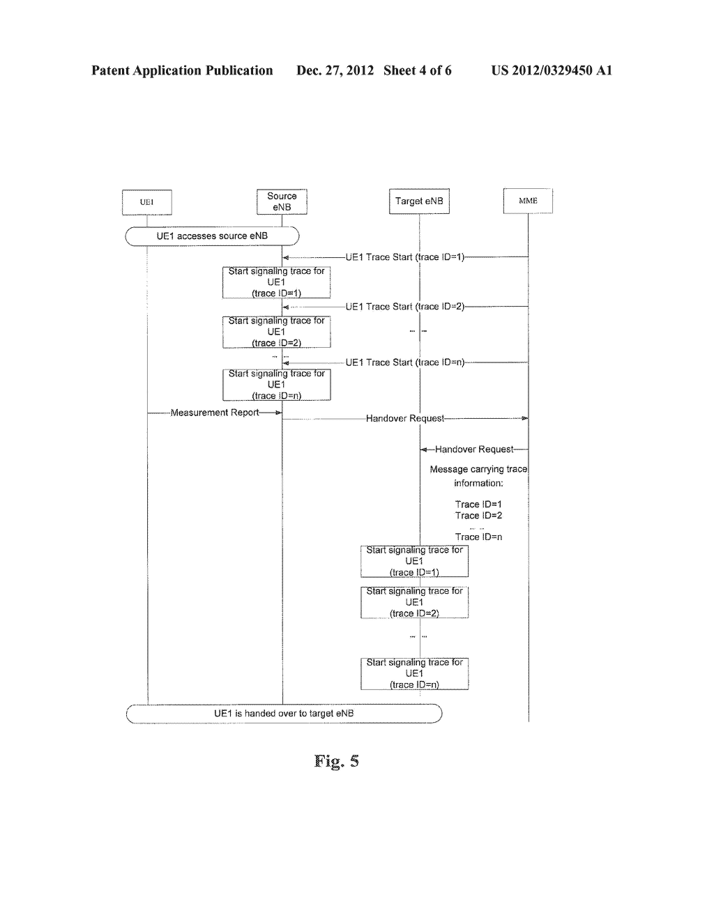 Method and Apparatus for Transmitting Signaling Trace Command - diagram, schematic, and image 05