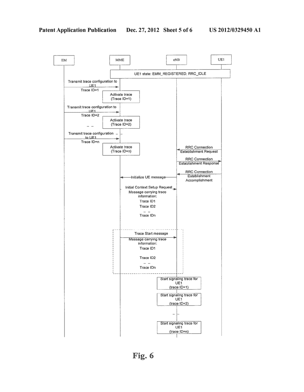 Method and Apparatus for Transmitting Signaling Trace Command - diagram, schematic, and image 06