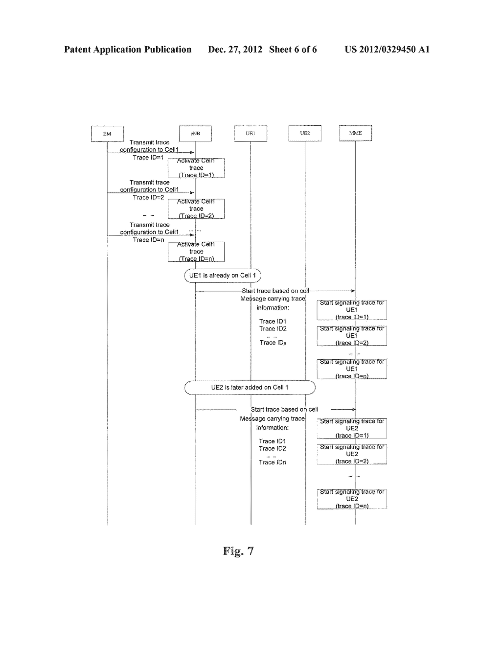Method and Apparatus for Transmitting Signaling Trace Command - diagram, schematic, and image 07