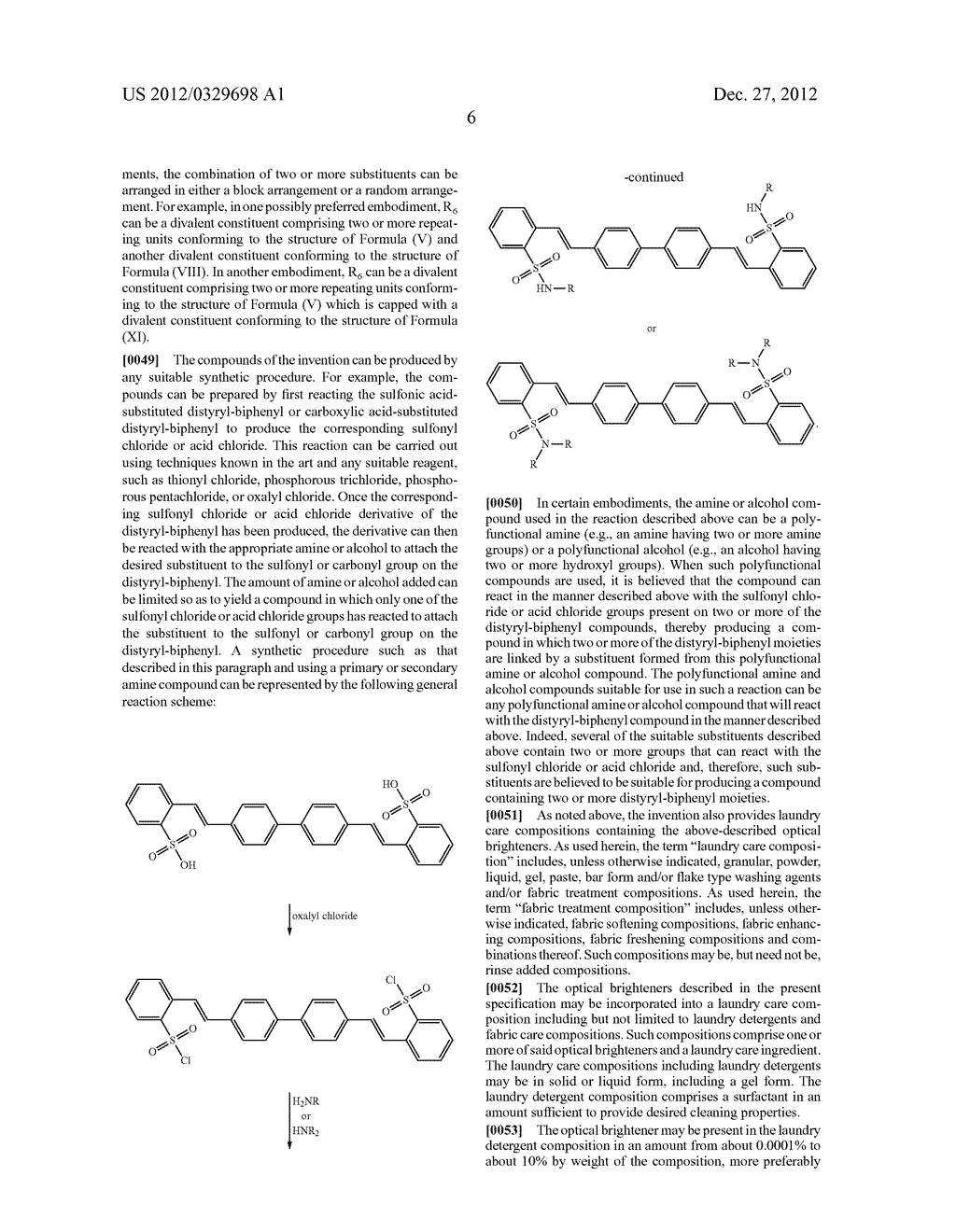 OPTICAL BRIGHTENERS AND COMPOSITIONS COMPRISING THE SAME - diagram, schematic, and image 07