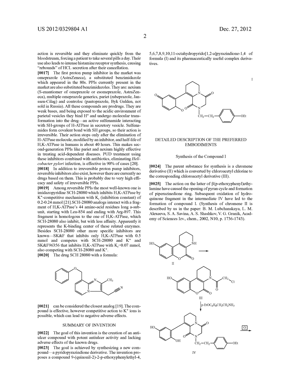 Pyridopyrazindione Derivative and its Use as an Antiulcer Drug - diagram, schematic, and image 03