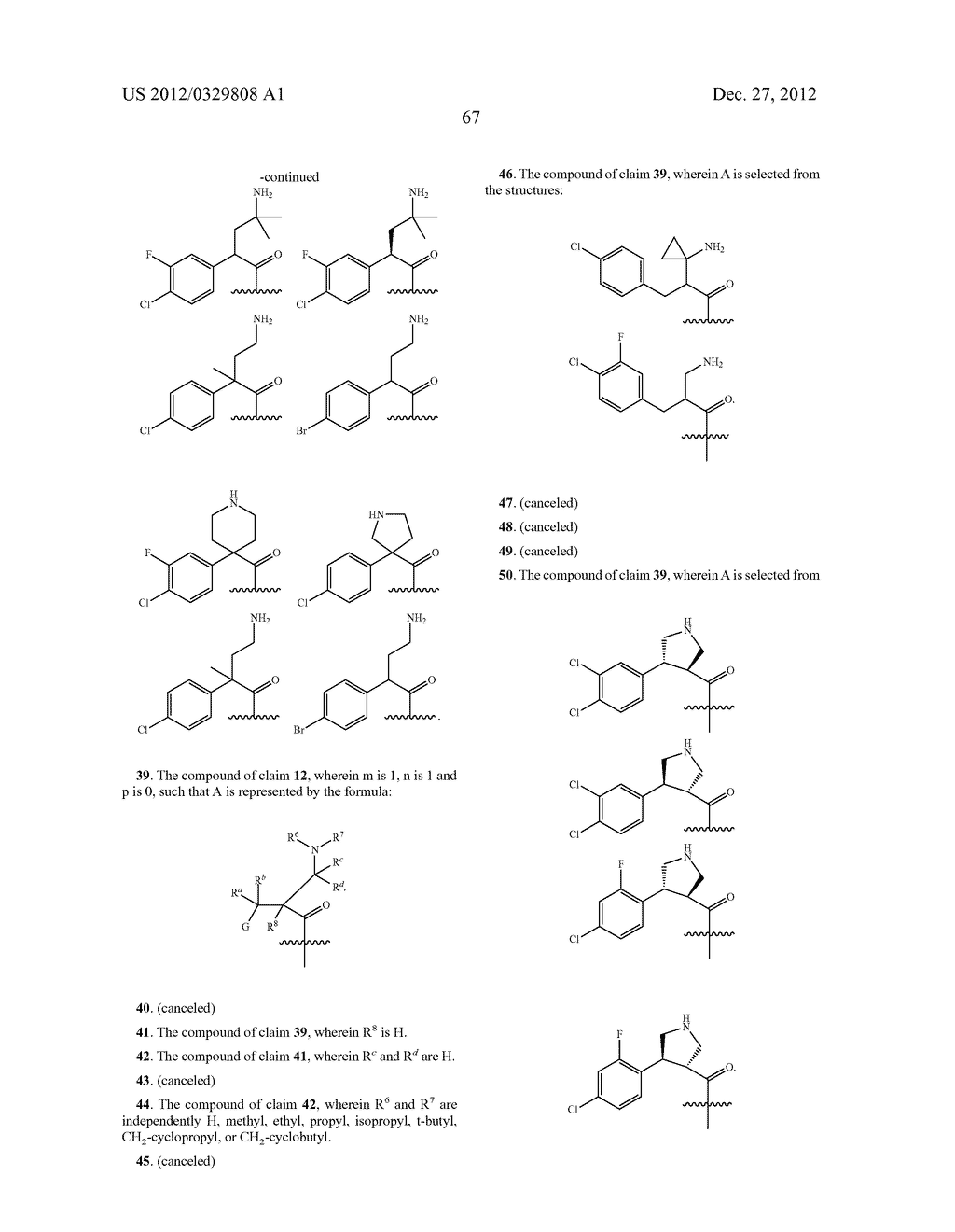 DIHYDROTHIENO PYRIMIDINES AS AKT PROTEIN KINASE INHIBITORS - diagram, schematic, and image 68