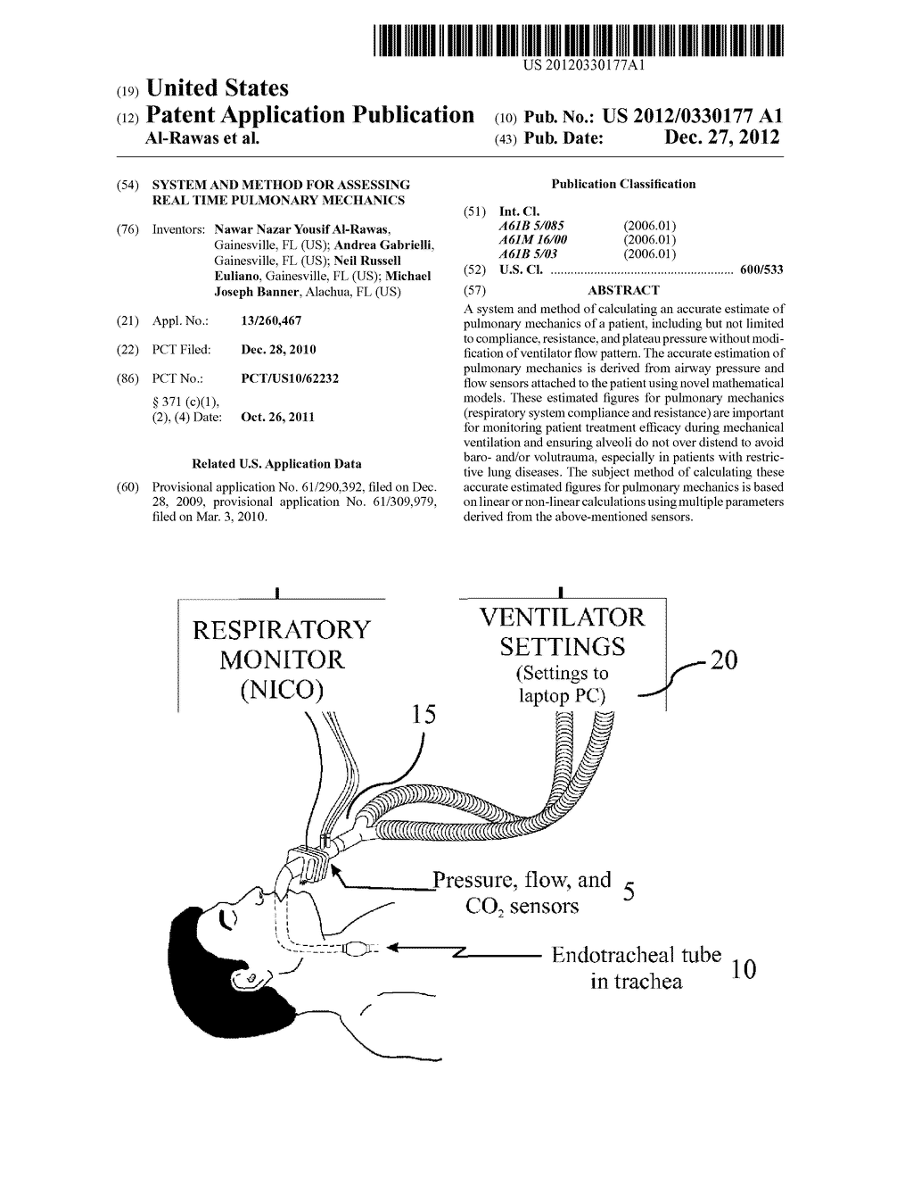 System and Method for Assessing Real Time Pulmonary Mechanics - diagram, schematic, and image 01