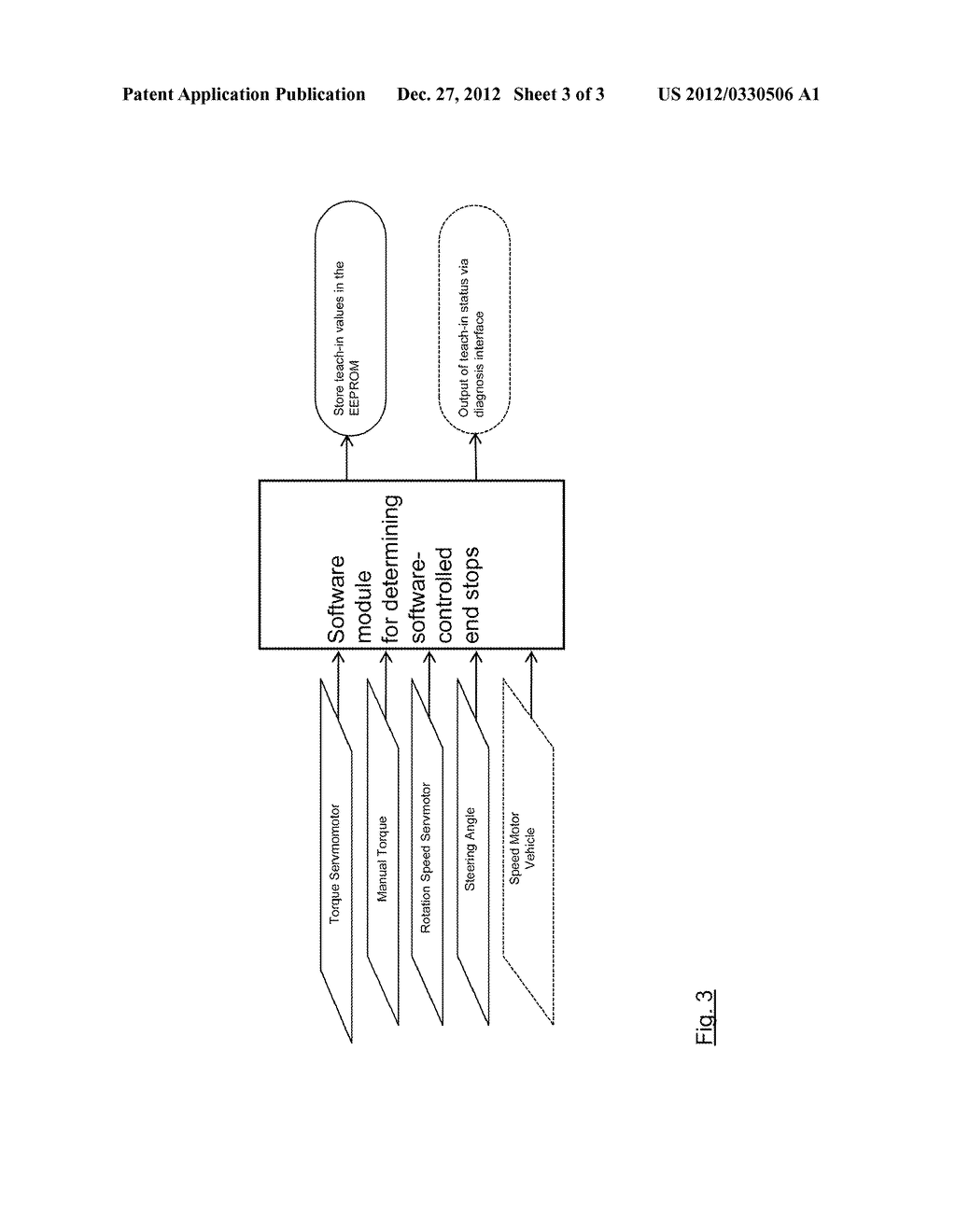 METHOD FOR DETERMINING AND DETECTING END STOPS OF A STEERING DEVICE OF A     MOTOR VEHICLE AND A MOTOR VEHICLE USING SUCH METHOD - diagram, schematic, and image 04