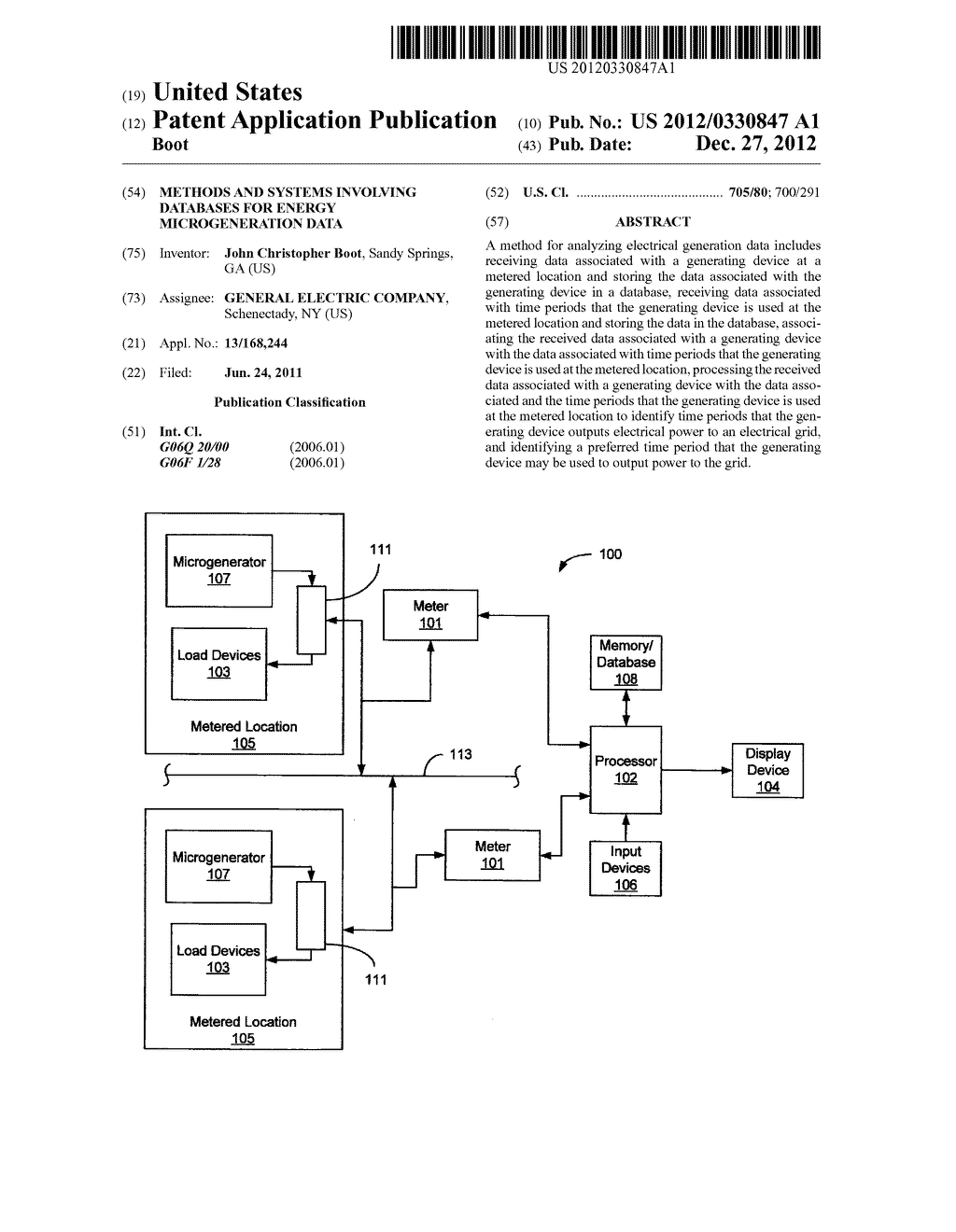 Methods and Systems Involving Databases for Energy Microgeneration Data - diagram, schematic, and image 01