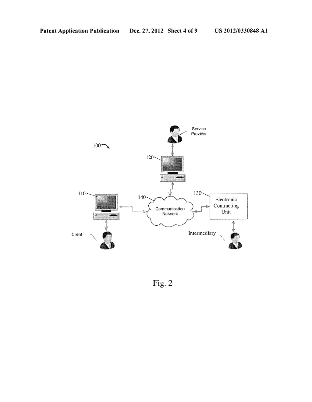 SYSTEM AND METHOD FOR ELECTRONIC CONTRACTING BETWEEN  REMOTE PARTIES - diagram, schematic, and image 05