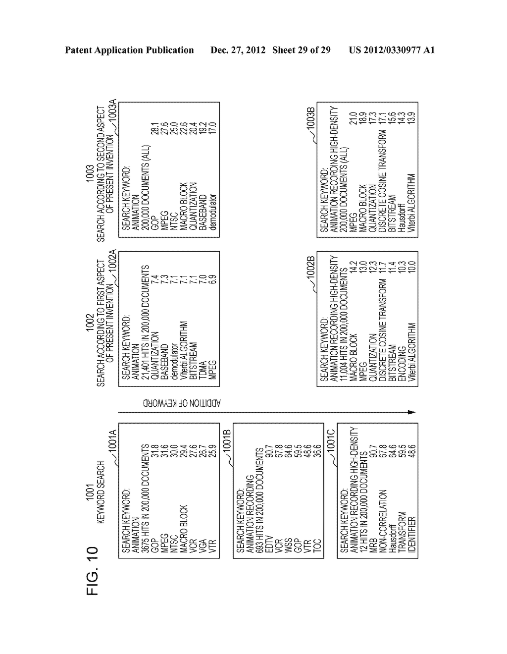METHOD, COMPUTER SYSTEM, AND COMPUTER PROGRAM FOR SEARCHING DOCUMENT DATA     USING SEARCH KEYWORD - diagram, schematic, and image 30