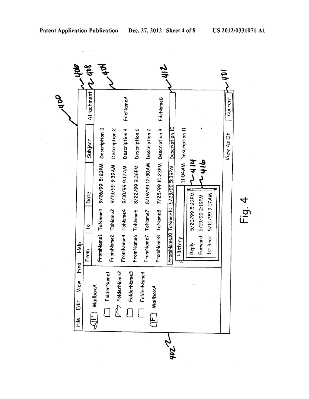 EMAIL ATTACHMENT MANAGEMENT IN A COMPUTER SYSTEM - diagram, schematic, and image 05