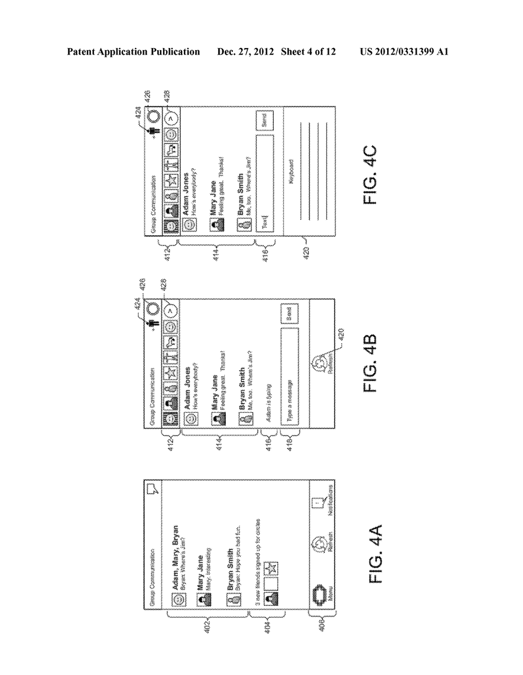 GRAPHICAL USER INTERFACE WHICH DISPLAYS PROFILE INFORMATION ASSOCIATED     WITH A SELECTED CONTACT - diagram, schematic, and image 05