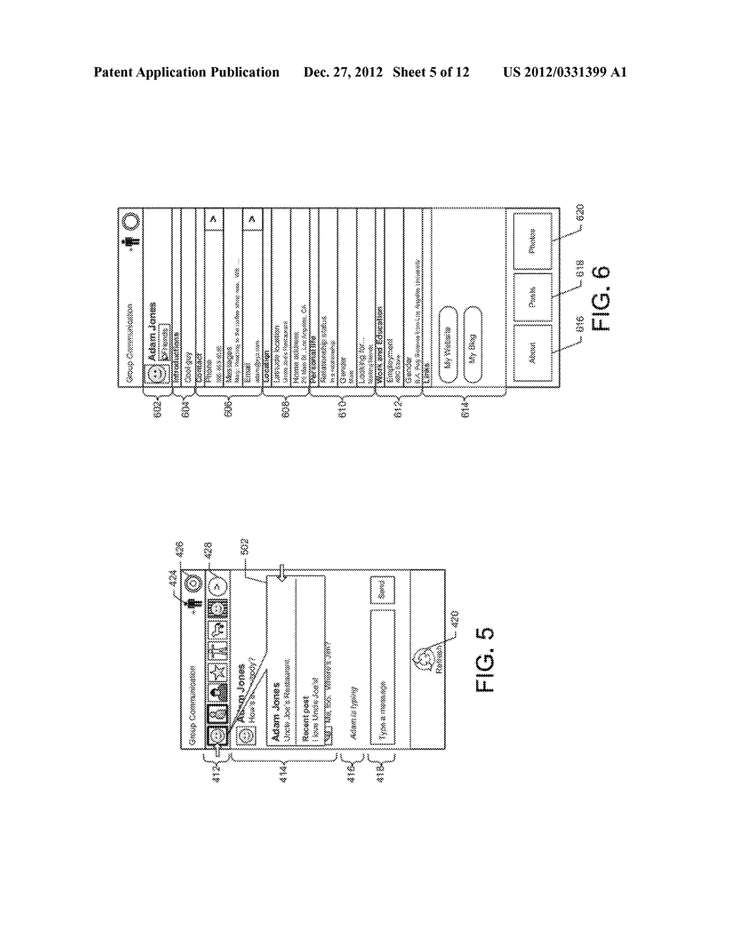 GRAPHICAL USER INTERFACE WHICH DISPLAYS PROFILE INFORMATION ASSOCIATED     WITH A SELECTED CONTACT - diagram, schematic, and image 06