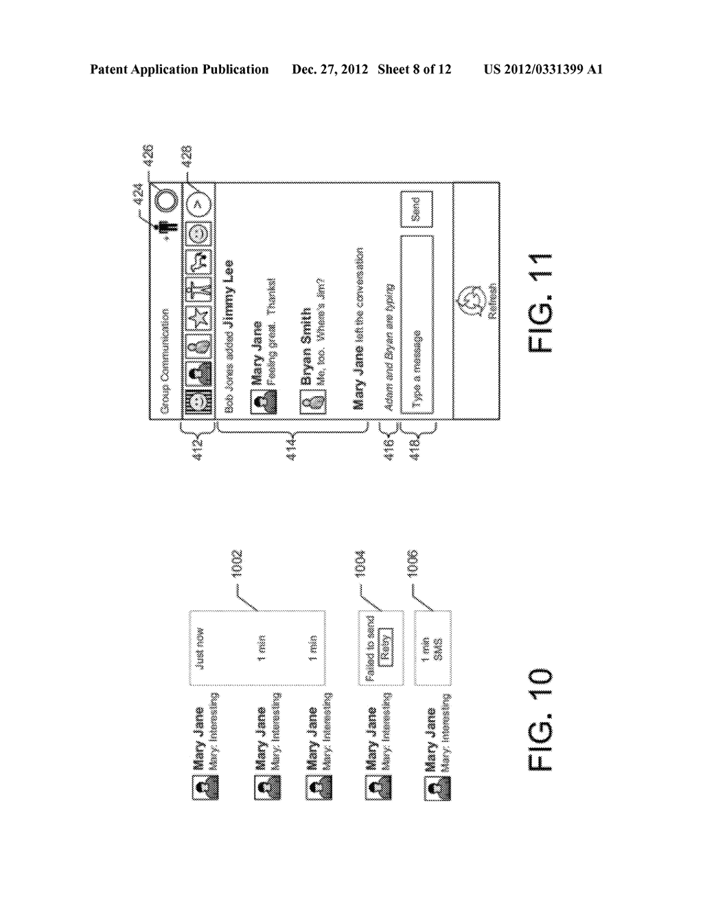 GRAPHICAL USER INTERFACE WHICH DISPLAYS PROFILE INFORMATION ASSOCIATED     WITH A SELECTED CONTACT - diagram, schematic, and image 09