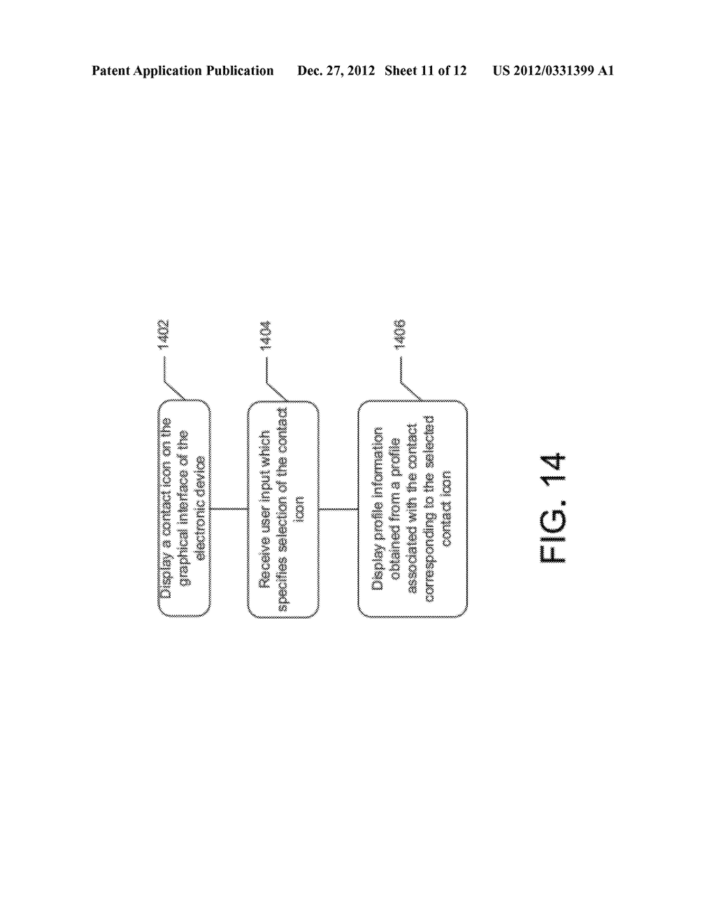 GRAPHICAL USER INTERFACE WHICH DISPLAYS PROFILE INFORMATION ASSOCIATED     WITH A SELECTED CONTACT - diagram, schematic, and image 12