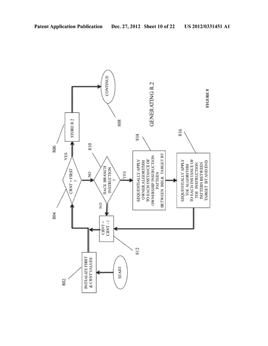 SYSTEM AND METHOD FOR COMPILING MACHINE-EXECUTABLE CODE GENERATED FROM A     SEQUENTIALLY ORDERED PLURALITY OF PROCESSOR INSTRUCTIONS - diagram, schematic, and image 11