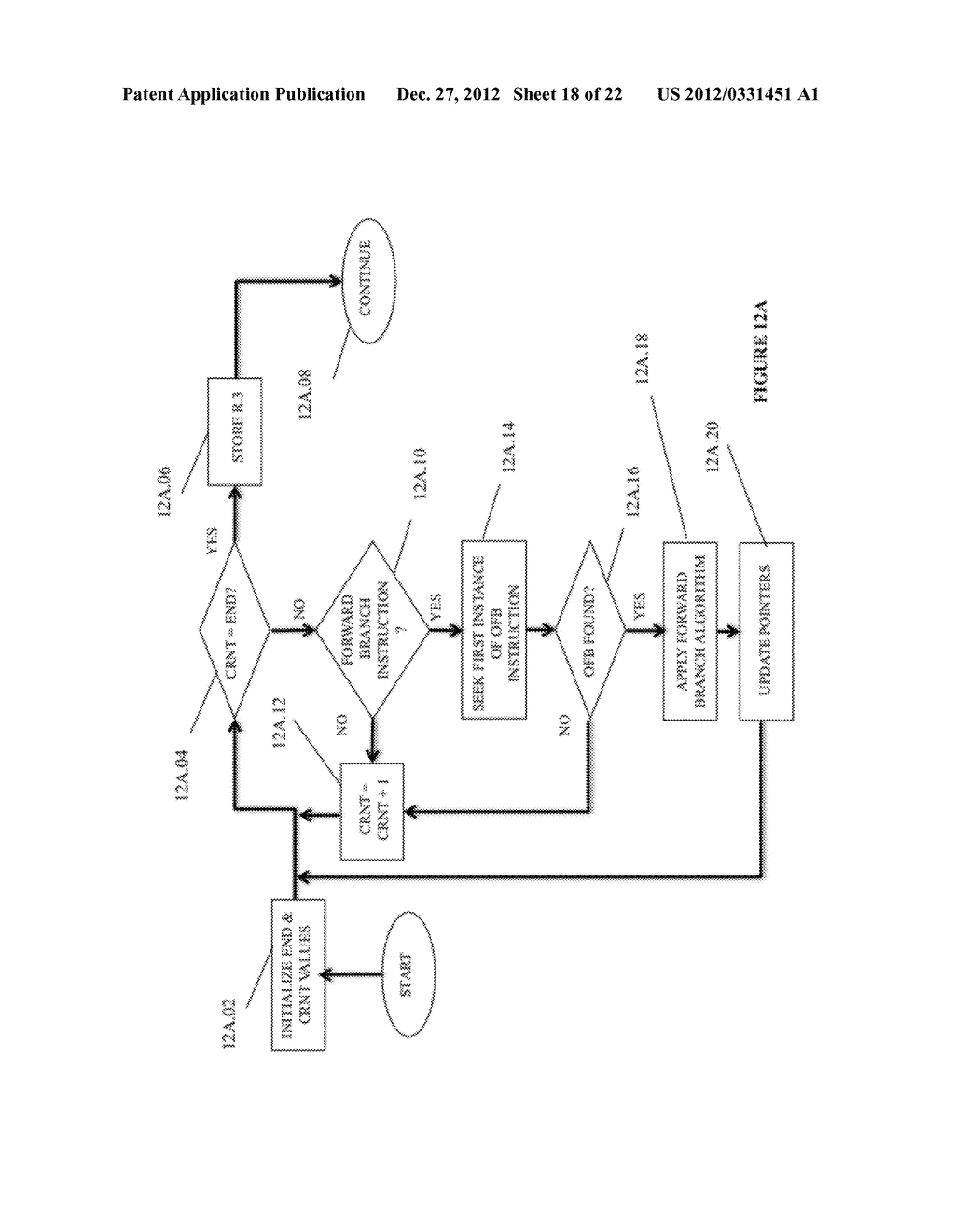 SYSTEM AND METHOD FOR COMPILING MACHINE-EXECUTABLE CODE GENERATED FROM A     SEQUENTIALLY ORDERED PLURALITY OF PROCESSOR INSTRUCTIONS - diagram, schematic, and image 19