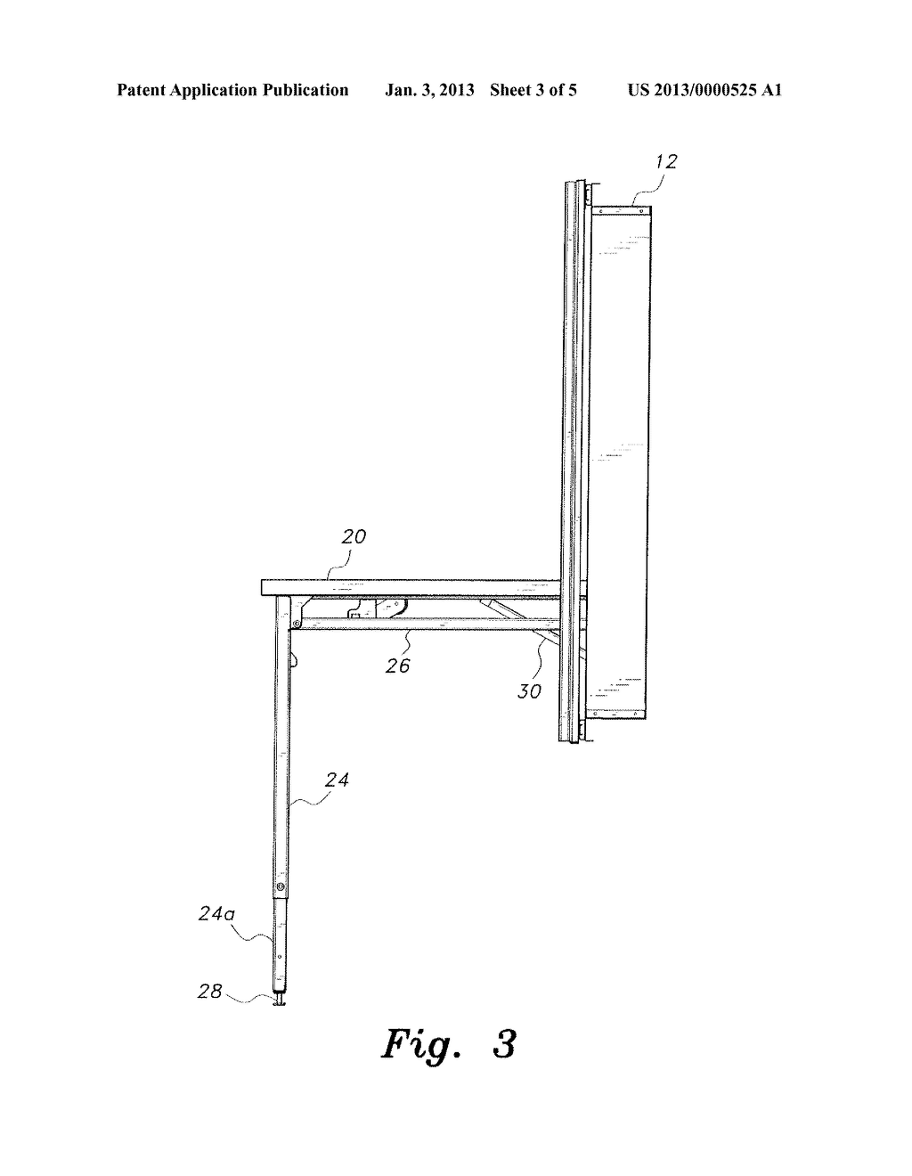 WALL-MOUNTED FOLDING TABLE - diagram, schematic, and image 04Patents