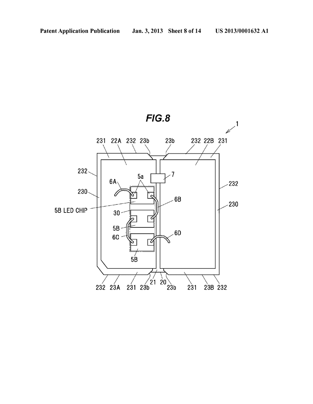 LIGHT-EMITTING ELEMENT MOUNTING SUBSTRATE, LED PACKAGE AND METHOD OF     MANUFACTURING THE LED PACKAGE - diagram, schematic, and image 09