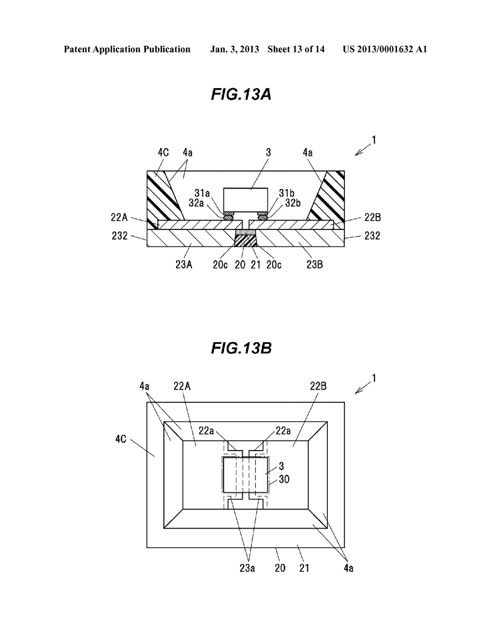 LIGHT-EMITTING ELEMENT MOUNTING SUBSTRATE, LED PACKAGE AND METHOD OF     MANUFACTURING THE LED PACKAGE - diagram, schematic, and image 14