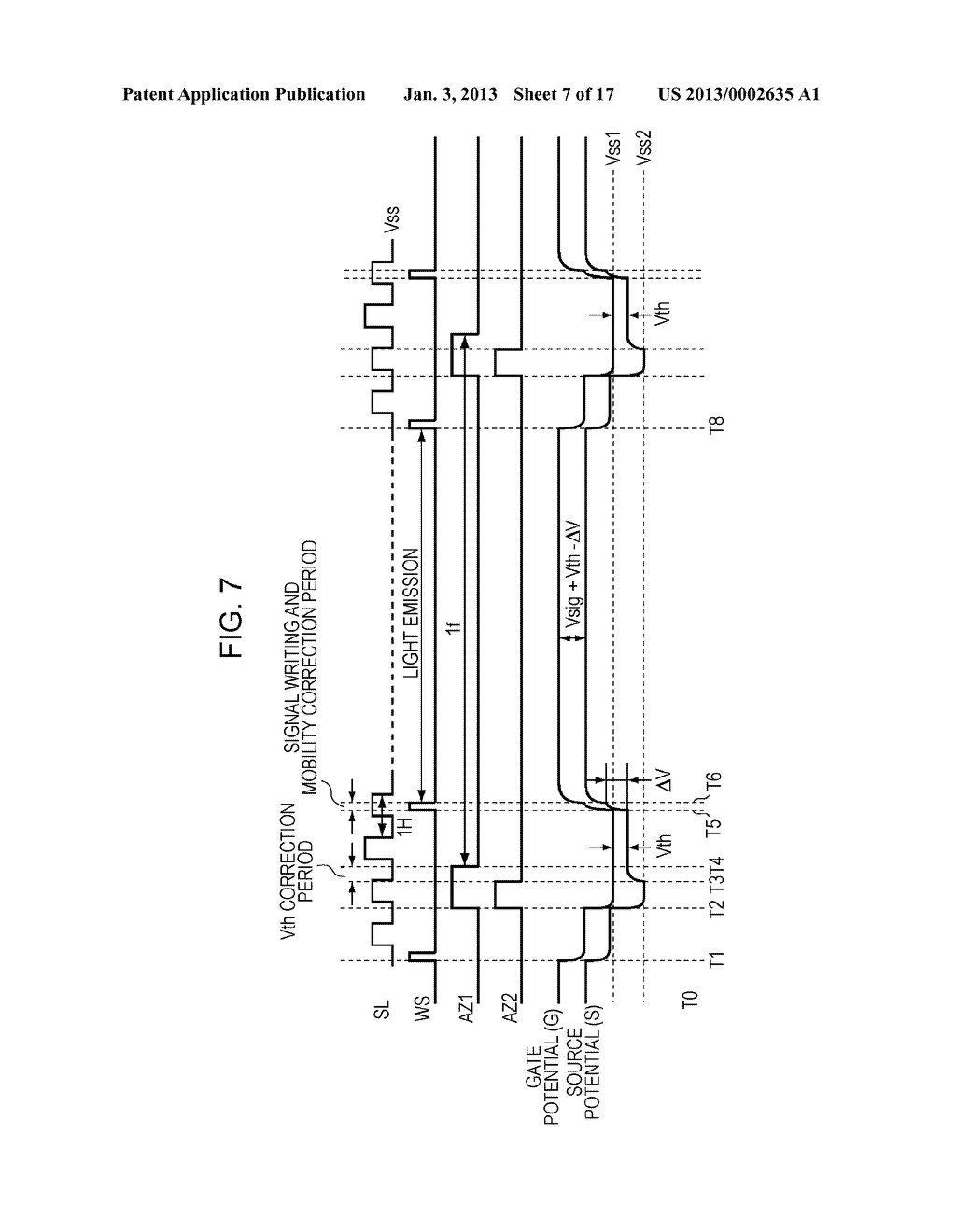 DISPLAY DEVICE, DISPLAY DEVICE DRIVING METHOD, AND ELECTRONIC APPARATUS - diagram, schematic, and image 08