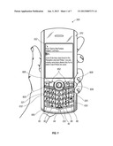DIFFERENTIATING A PORTION OF A TEXT MESSAGE SHOWN IN A LISTING ON A     HANDHELD COMMUNICATION DEVICE USING AN ICON diagram and image