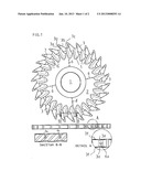 HYDRODYNAMICALLY GUIDED CIRCULAR SAW BLADE diagram and image