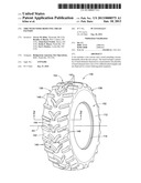 TIRE WITH NOISE-REDUCING TREAD PATTERN diagram and image