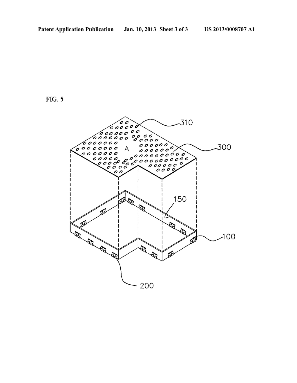 METAL STRIP ASSEMBLY FOR EMI SHIELD CASE, EMI SHIELD CASE INCLUDING THE     SAME, AND FABRICATION METHOD OF THE CASE - diagram, schematic, and image 04