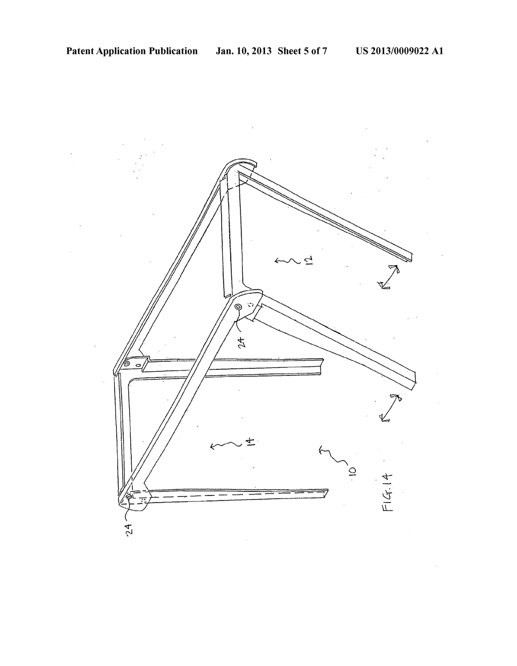 Support structure for and method of using plastic Bags - diagram, schematic, and image 06