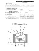 LIGHTING USING SOLID STATE DEVICE AND PHOSPHORS TO PRODUCE LIGHT     APPROXIMATING A BLACK BODY RADIATION SPECTRUM diagram and image