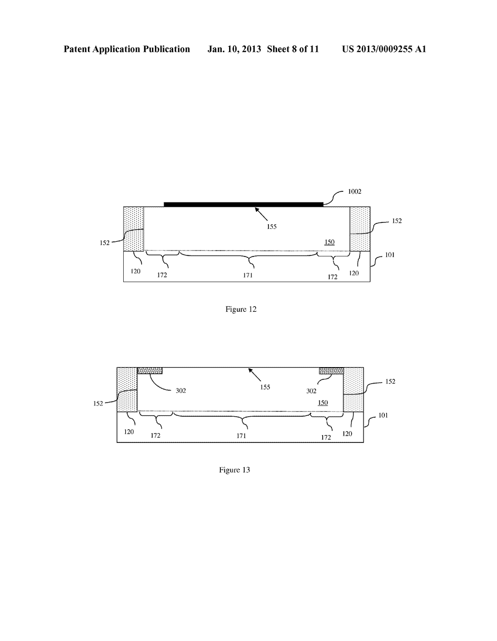 FIELD EFFECT TRANSISTOR WITH SUPPRESSED CORNER LEAKAGE THROUGH CHANNEL     MATERIAL BAND-EDGE MODULATION, DESIGN STRUCTURE AND METHOD - diagram, schematic, and image 09