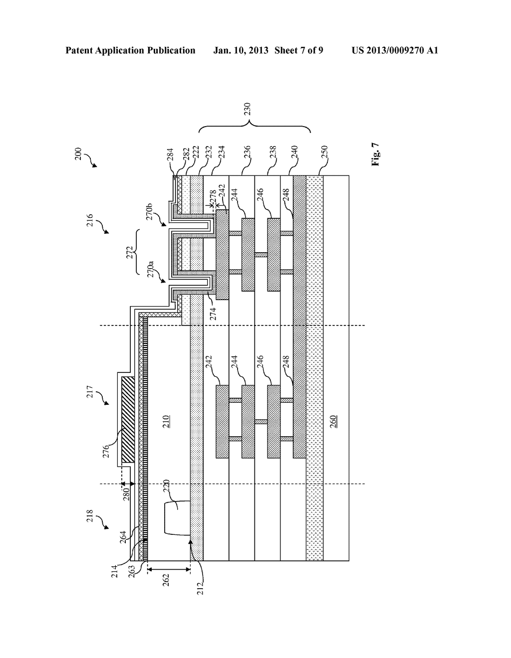 BACKSIDE ILLUMINATION SENSOR HAVING A BONDING PAD STRUCTURE AND METHOD OF     MAKING THE SAME - diagram, schematic, and image 08