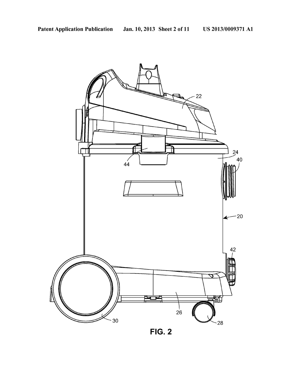 Portable Cleaner with Axle Mount - diagram, schematic, and image 03