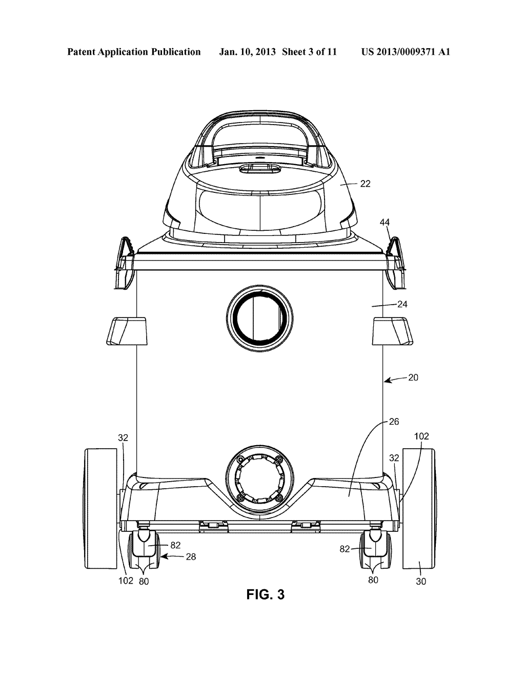 Portable Cleaner with Axle Mount - diagram, schematic, and image 04