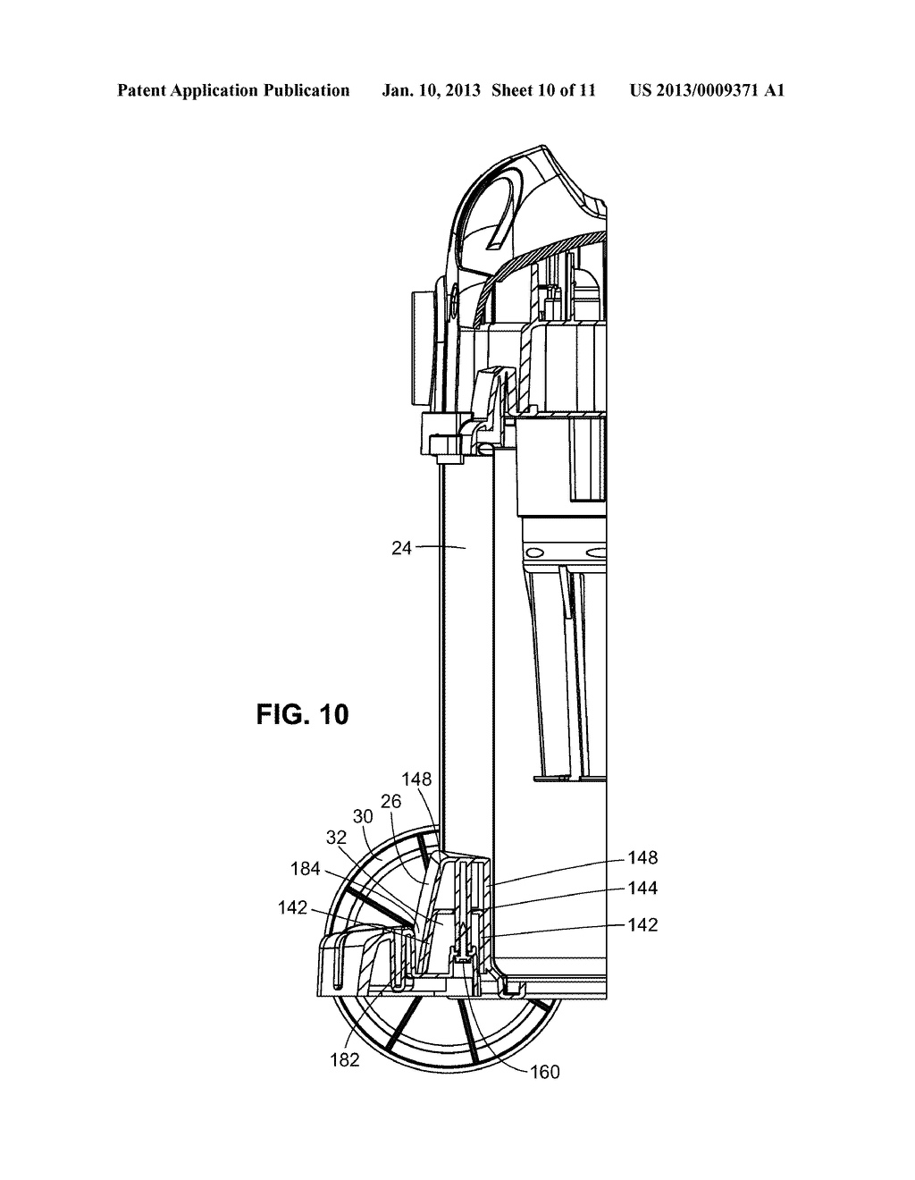 Portable Cleaner with Axle Mount - diagram, schematic, and image 11