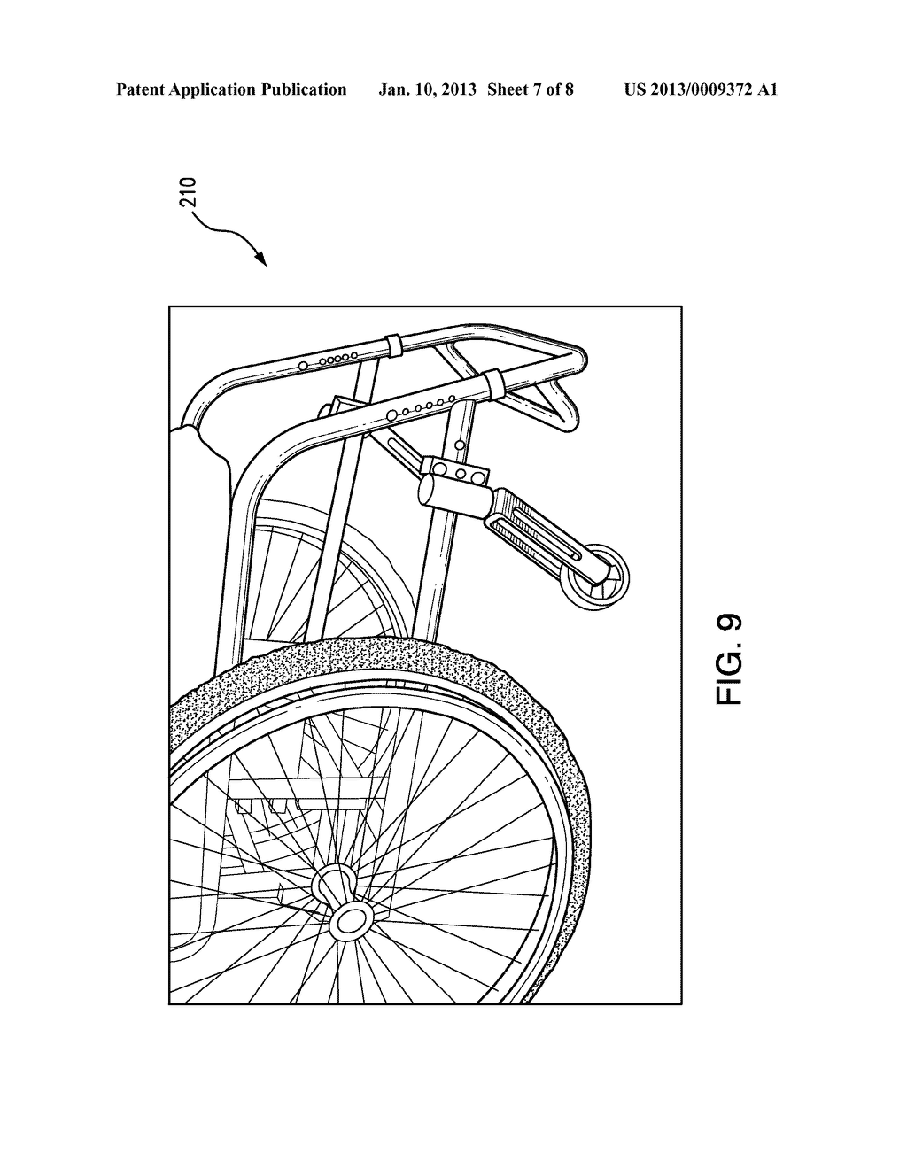 WHEELCHAIR ATTACHMENT WITH SELECTIVELY DEPLOYABLE SECONDARY FRONT WHEELS - diagram, schematic, and image 08