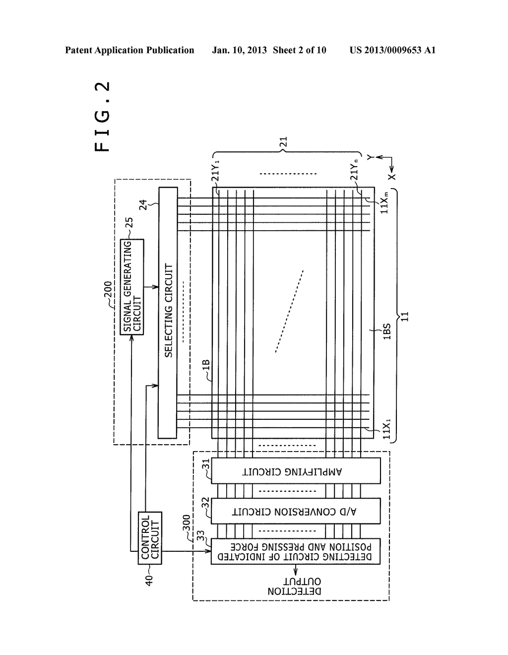 POSITION DETECTING SENSOR, POSITION DETECTING DEVICE, AND POSITION     DETECTING METHOD - diagram, schematic, and image 03
