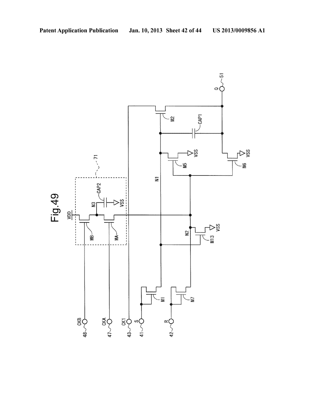 SCANNING SIGNAL LINE DRIVE CIRCUIT AND DISPLAY DEVICE HAVING THE SAME - diagram, schematic, and image 43