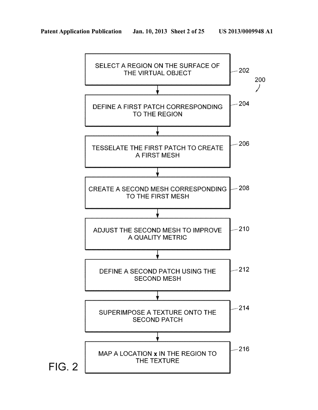 Apparatus and Methods for Wrapping Texture onto the Surface of a Virtual     Object - diagram, schematic, and image 03
