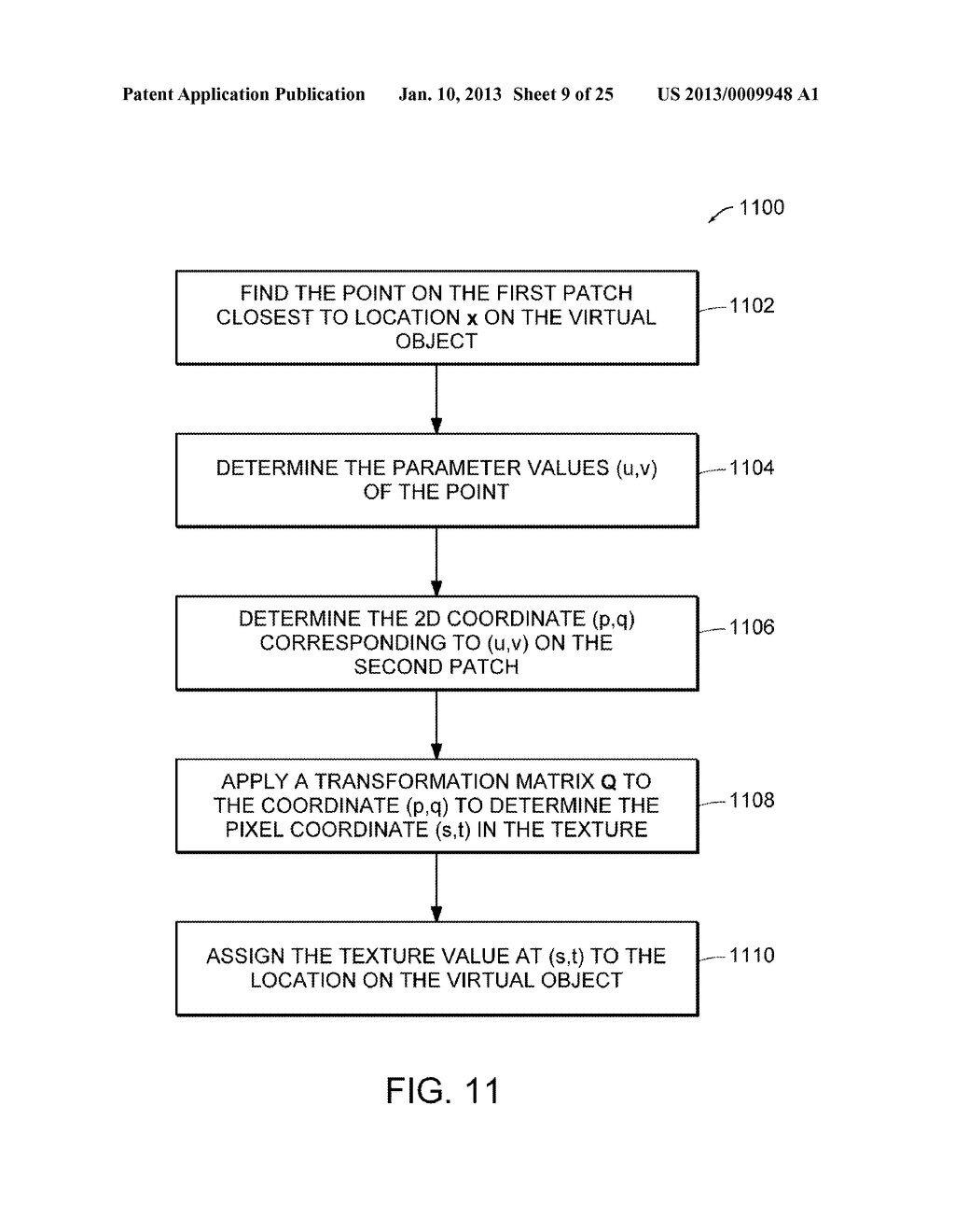 Apparatus and Methods for Wrapping Texture onto the Surface of a Virtual     Object - diagram, schematic, and image 10