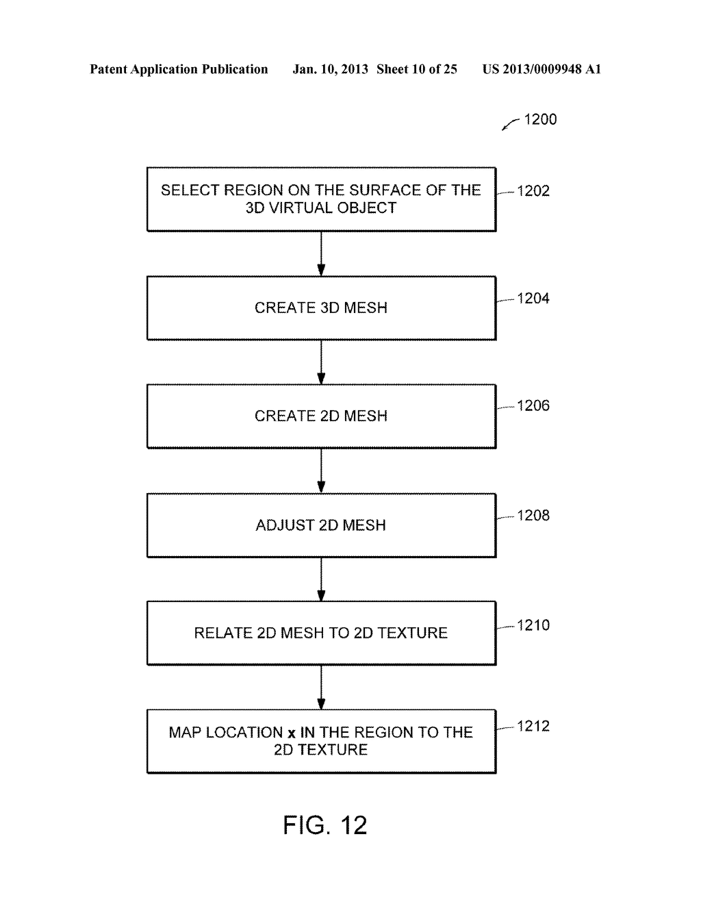 Apparatus and Methods for Wrapping Texture onto the Surface of a Virtual     Object - diagram, schematic, and image 11