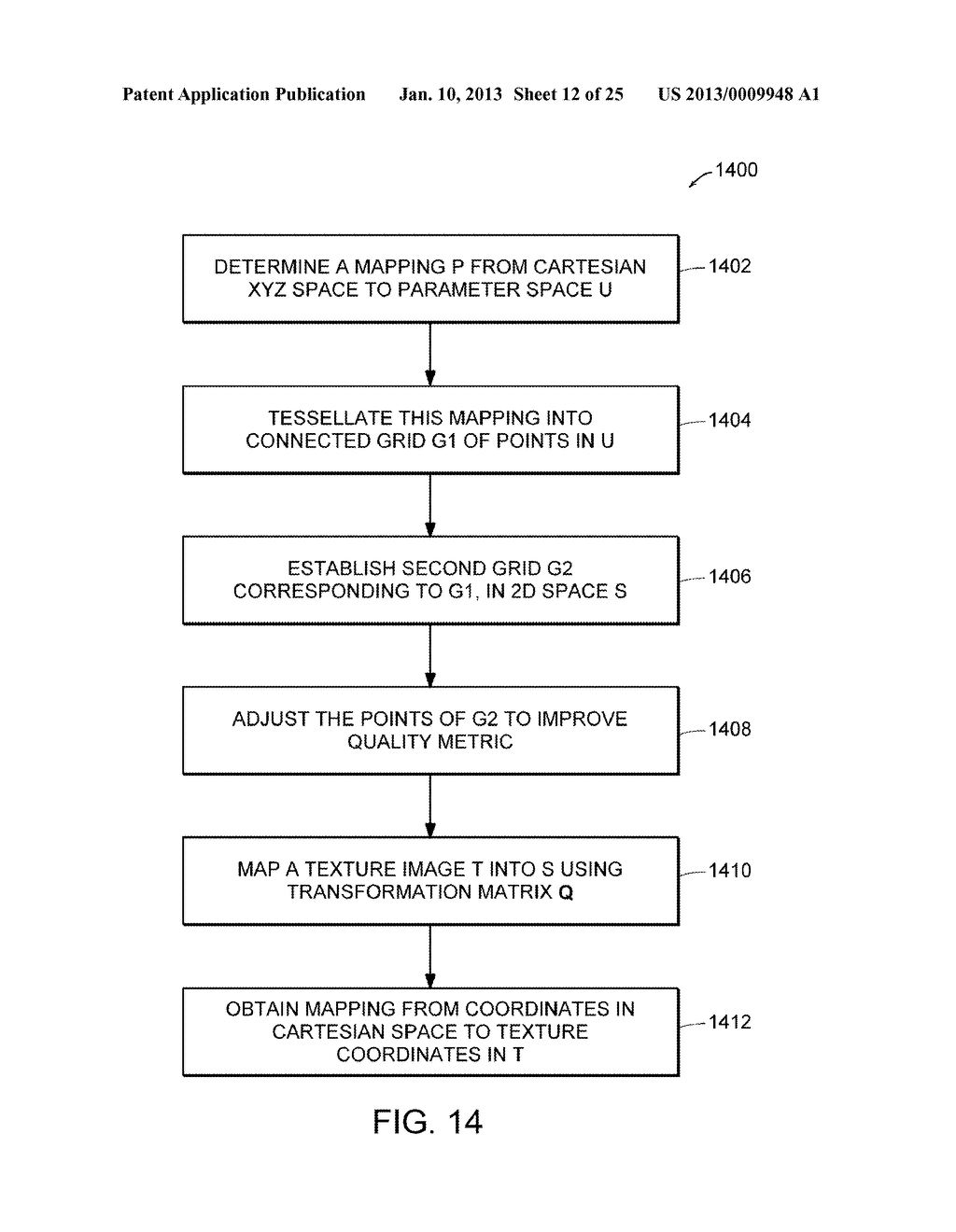 Apparatus and Methods for Wrapping Texture onto the Surface of a Virtual     Object - diagram, schematic, and image 13
