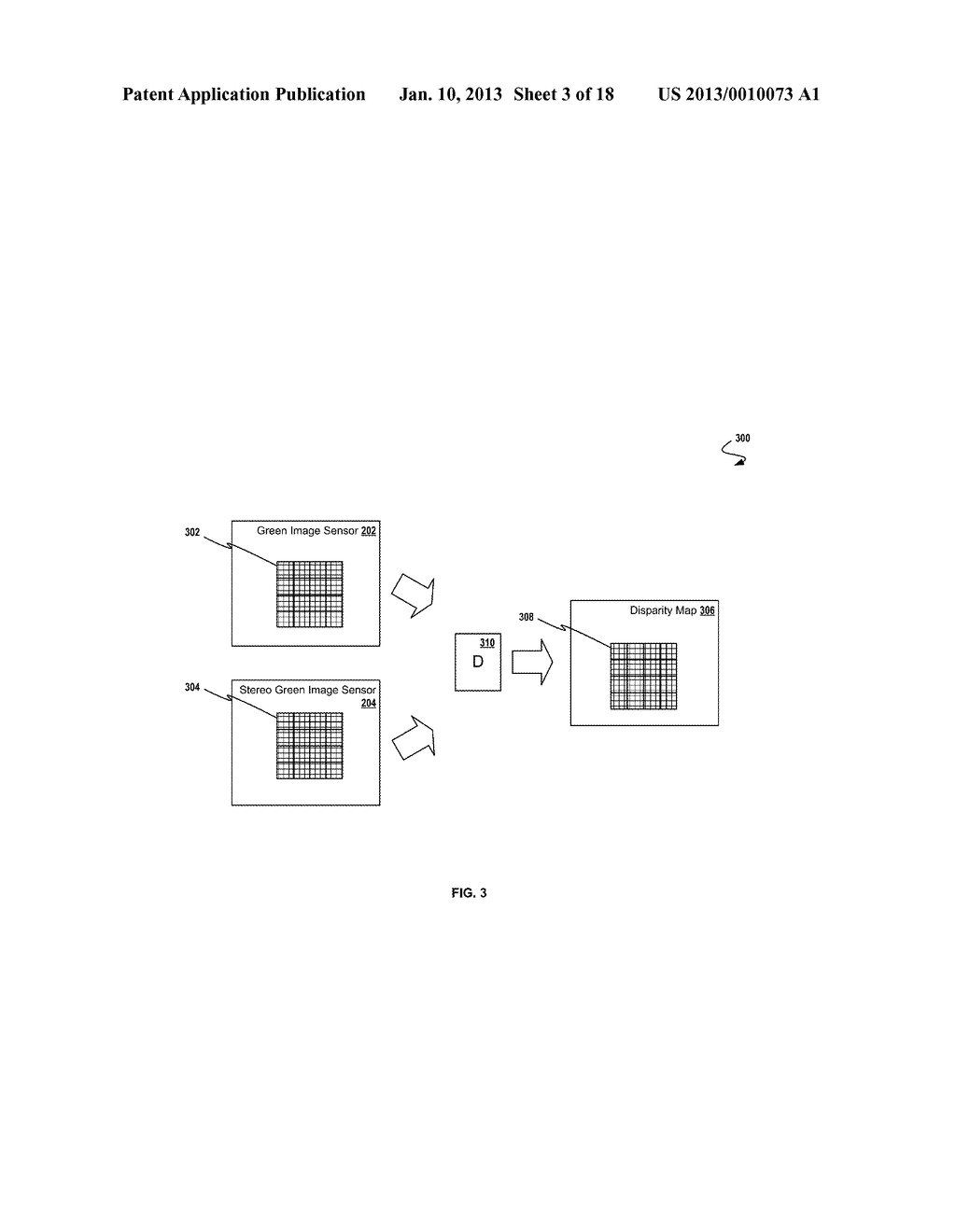 SYSTEM AND METHOD FOR GENERATING A DEPTH MAP AND FUSING IMAGES FROM A     CAMERA ARRAY - diagram, schematic, and image 04