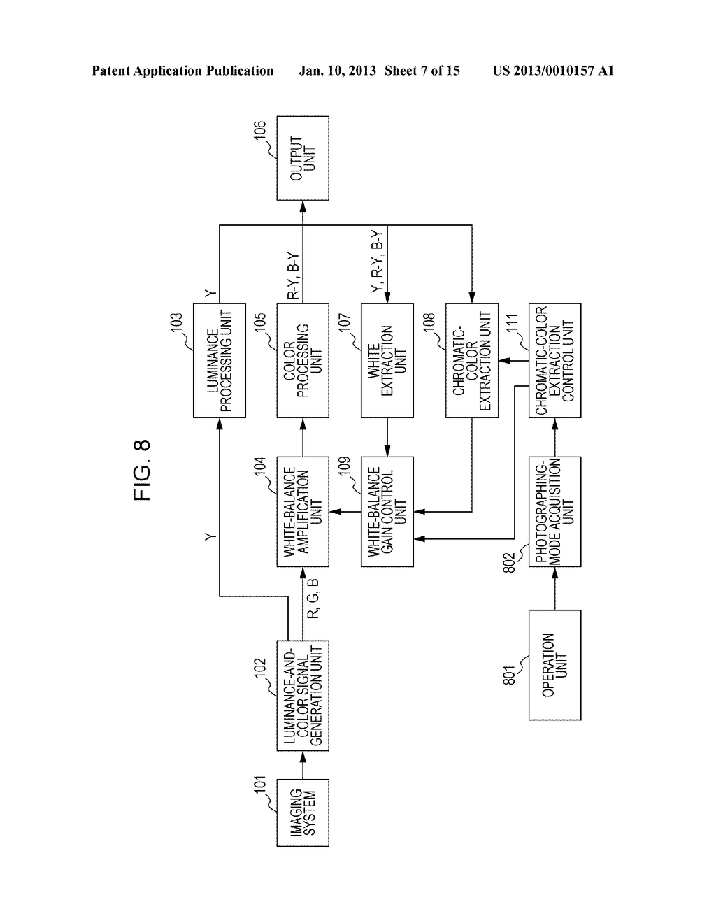 IMAGE-PICKUP APPARATUS AND WHITE-BALANCE CONTROL METHOD PROVIDED THEREFOR - diagram, schematic, and image 08