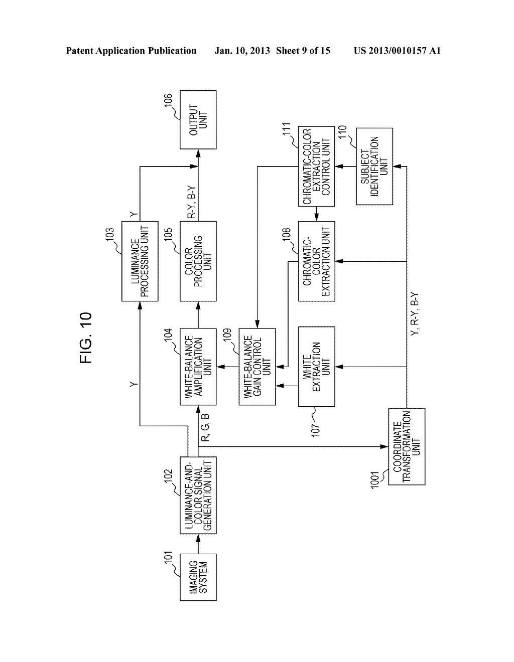 IMAGE-PICKUP APPARATUS AND WHITE-BALANCE CONTROL METHOD PROVIDED THEREFOR - diagram, schematic, and image 10