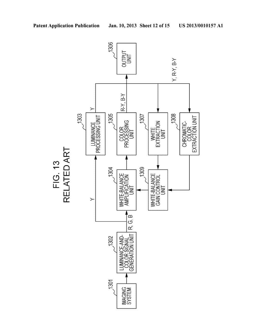 IMAGE-PICKUP APPARATUS AND WHITE-BALANCE CONTROL METHOD PROVIDED THEREFOR - diagram, schematic, and image 13